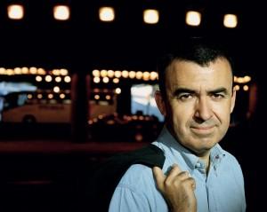 El escritor Lorenzo Silva en Madrid. Agosto 2007