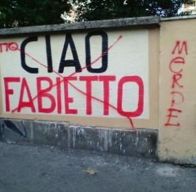 muro della casa dei genitori di Fabio Perissinotto, finanziere ucciso 10 anni fà