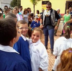 il sindaco fiengo con la festa studenti.. primo giorno di scuola