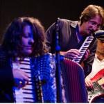 Un momento di un'esibizione di Mario Romano Orkestrine