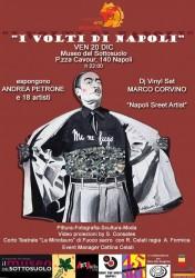 Locandina dell'evento con opera dell'artista Andrea Petrone