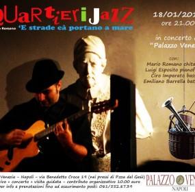 Mario Romano Quartieri Jazz e la sua chitarra in Viaggio con la Musica nell'arte