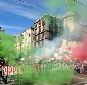CASAPOUND ITALIA A PIAZZA GARIBALDI A NAPOLI - PRESIDIO