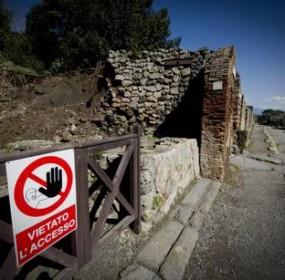 Pompei: area chiusa al pubblico