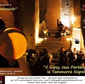 Mario Romano Quartieri Jazz Trio ed Orkestrine ne Le mille e una nota  sabato 19 luglio ore 21.30 al Museo del Sottosuolo di Napoli