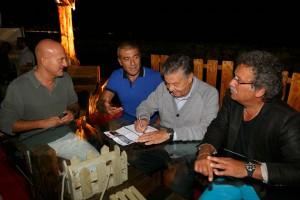 Bisio e Pozzetto firmano la petizione UNESCO con Pecoraro Scanio e Miccu
