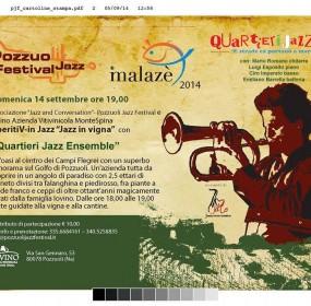 Mario Romano Quartieri Jazz per  i concerti in vigna