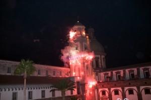 incendio campanile madonna dell'arco - sant'anastasia