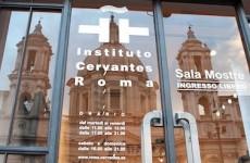 la sala esposizioni del Cervantes di piazza Navona (ph titti fabozzi)