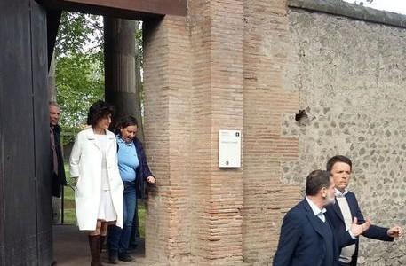Renzi in visita privata a Pompei