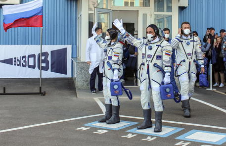Space launch preparation for ISS Expedition 66 in Baikonur